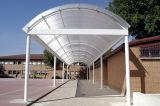 Le polycarbonate de Jumeau-Mur couvre 10 ans de qualité de garantie de toiture de polycarbonate