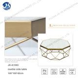 Tavolino da salotto vetro/metallo del blocco per grafici del nuovo di disegno marmo del poligono