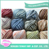 Polyester Knitting Mão Wool Scarf Cotton Viscose Yarn