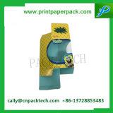 Изготовленный на заказ зеленая сложенная коробка косметической индикации бумажная