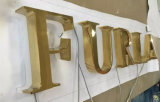 Eletroplating покрыло письмо знака СИД логоса письма знака 3D письма золота загоранное титаном светлое
