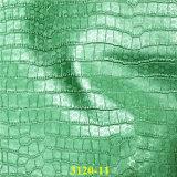Tessuto di goffratura del cuoio di pattino dell'unità di elaborazione del grano del coccodrillo con effetto della perla