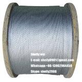 """3/8 """" (7X3.05mm) di filo galvanizzato del filo di acciaio per il cavo di ancoraggio, messaggero, collegare di soggiorno"""