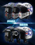 2017 capacetes da motocicleta da face do projeto novo meios com muitas peças dos tipos