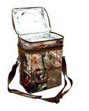 12 puede el bolso aislado Camo del almuerzo del bosque