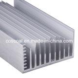 Profil en aluminium d'OEM pour le radiateur avec Drilling&Black anodisé