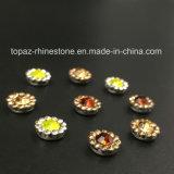 2017 установка когтя цветка кристалла нового и верхнего качества 9mm шьет на полосе Strass (кристалл гиацинта TP-9mm круглый)