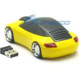Nuevo ratón sin hilos óptico del USB 2.4G 1600dpi 3D del coche