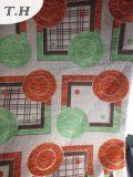 Tissu 100% coloré de jacquard de Chenille de cercle de polyester pour les meubles et la présidence