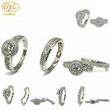 De manier belt de Ring van de Vinger van de Overeenkomst van de Diamant van de Halfedelsteen van de Mannen van de Vrouwen van de Fabriek van Juwelen in Gouden Koper 925 van het Titanium van het Roestvrij staal de Echte Ring van de Zilveren bruiloft