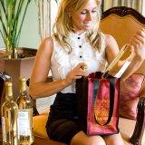 Sac d'emballage non tissé fait sur commande de sac de vin de bouteille des achats 4