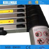 échelle en aluminium télescopique de 3.8m avec les barres de stabilisateur (KME1038)