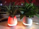 Potenciômetro de flor novo da música do altofalante de Bluetooth com diodo emissor de luz