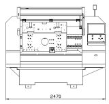 Perforatrice del PWB dell'asse di rotazione di alta velocità due