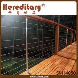Trilhos ao ar livre da plataforma do engranzamento de fio do aço inoxidável (SJ-H4050)