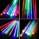 8*30/50cm 144/240의 LED 유성우 비 관 태양 에너지 정원 나무 훈장 램프 태양 가벼운 결혼식 끈 빛