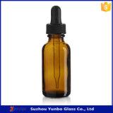 Botella de cristal redonda ambarina del cuentagotas de Boston para la venta