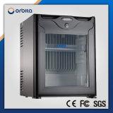 Orbita réfrigérateur de porte en verre de 60 litres mini pour la chambre de hôtel