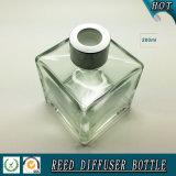 frasco de vidro do difusor quadrado da fragrância 200ml com tampão de parafuso