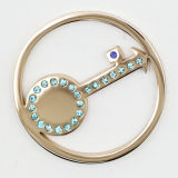 Acero inoxidable 316L de la moneda clave Placas con cristal de 35 mm con ajuste Locket