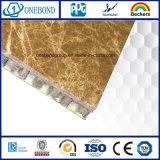 El panel de piedra amarillo con el panel de aluminio del panal para el revestimiento de la pared