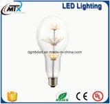 MTX S04 별 Edison A60 LED 전구 크리스마스 나무 E27 220V는 밧줄 빛 샹들리에 벽 램프를 위해 적합했던 공정한 판단 다락 Retro 작풍을 데운다