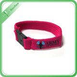 Wristband su ordinazione del jacquard di buona qualità per il regalo promozionale