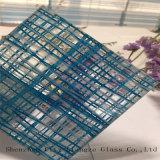 10m m modificaron el vidrio del vidrio para requisitos particulares/emparedado del arte/templaron la gafa de seguridad del vidrio laminado//el vidrio laminado teñido/el vidrio laminado azul para adornado