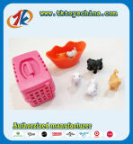 Cute Plastic Mini Animal Cat et Dog Play Set Toy pour enfants