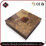 Kundenspezifisches Firmenzeichen, das quadratisches Papier-verpackenkasten bronziert