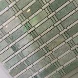 Mattonelle di mosaico bianche della bella dell'artista di modo delle strisce di Ming miscela casuale di verde