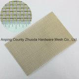 Weave liso de bronze de pano de fio da classe fina grosseira resistente de China