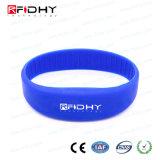 Étiquette sans contact de bande de montre de bracelet de bracelet de silicones d'IDENTIFICATION RF