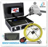 Sistema de inspección del tubo de la pista de cámara de la alcantarilla con los teclados y el contador de la longitud