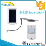 24 jardins solaires lumineux superbes de lampe du panneau solaire 6V 3W de DEL avec IP67 SL1-1-24
