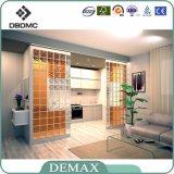 Edifício de cor clara, oco, pequeno, corredor, decorativo, cristal, vidro, tijolos