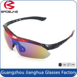 Primeira qualidade Polarized Custom Logo Sports Óculos de sol Óculos intercambiáveis Anti UV400 Riding Running Climbing Ciclismo Óculos de sol