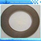 Disco del filtro del acero inoxidable con el orificio redondo