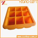 Kundenspezifische Gummiform der Schokoladen-Form des Eis-Würfel-Tellersegmentes (YB-HD-38)