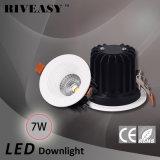 7W 02 LED Downlight LED 반점 가벼운 Die-Casting 옥수수 속 LED 천장 빛