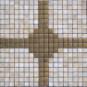 Mármol de piedra natural mezclado del mosaico del metal (FYSM032)