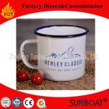 Sunboat Blue Rim Bom preço Customized Esmalte Canecas Esmalte Metal Cup Utensílios de mesa