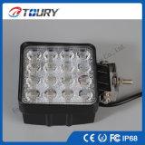 48W LED 차 빛은 도로 LED 일 빛을 떨어져 네모로 한다