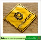 赤い金属のよいステッカーが付いているアルミニウムによって印刷される3Dワインの紋章のラベル