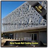 Revêtement en aluminium extérieur de construction de mur de panneau