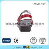 형식 디자인 빨간 간단한 작풍 여자 방해물 단화