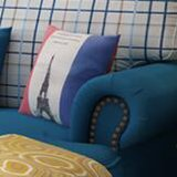 Sofá americano da tela do estilo de país para a mobília M3004 da sala de visitas