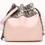 Moda Designer Handbags Snake Pattern Bucket Bag Mulheres Shoulder Bags Sy8213