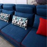Moderner Entwurfs-Schnittsofa mit Flanell-Qualitäts-Gewebe für Hotel-Bett-Raum Furniture-Fb1149