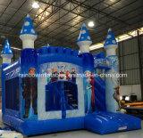 Castillo animoso de la diapositiva inflable inflable del puente del arco iris